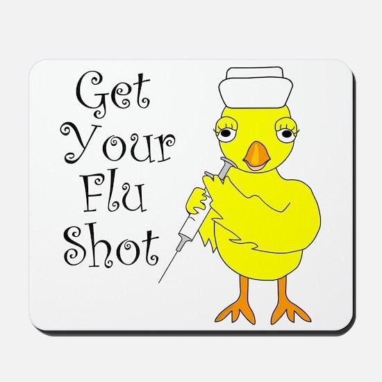 Nurse Flu Shot Chick Mousepad