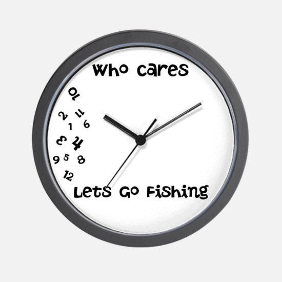 Funny Who cares Wall Clock