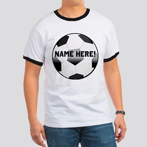 Personalized Name Soccer Ball Ringer T