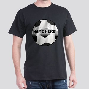 Personalized Name Soccer Ball Dark T-Shirt