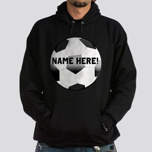 Personalized Name Soccer Ball Hoodie (dark)