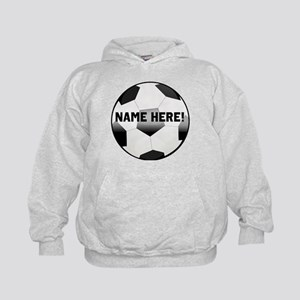 Personalized Name Soccer Ball Kids Hoodie