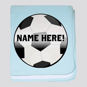 Personalized Name Soccer Ball baby blanket