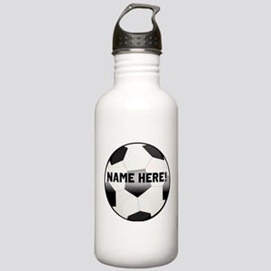 Personalized Name Soccer Ball Stainless Water Bott