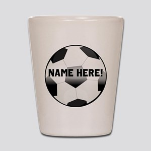 Personalized Name Soccer Ball Shot Glass