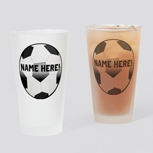 Personalized Name Soccer Ball Drinking Glass
