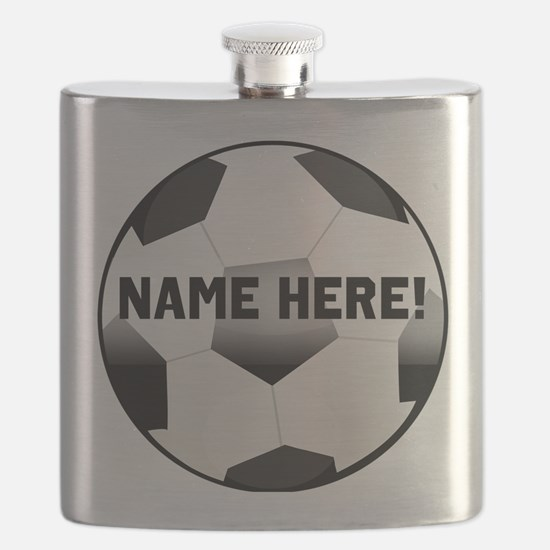 Personalized Name Soccer Ball Flask