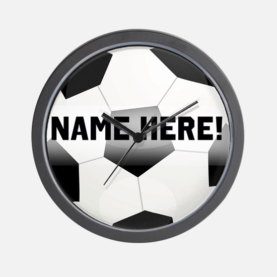 Personalized Name Soccer Ball Wall Clock
