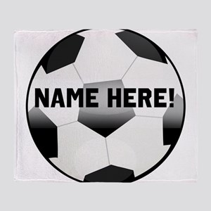 Personalized Name Soccer Ball Throw Blanket