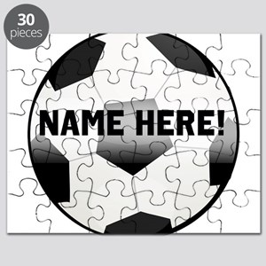 Personalized Name Soccer Ball Puzzle
