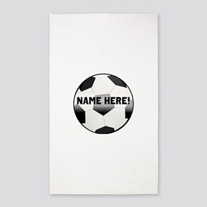 Personalized Name Soccer Ball 3 X5 Area Rug