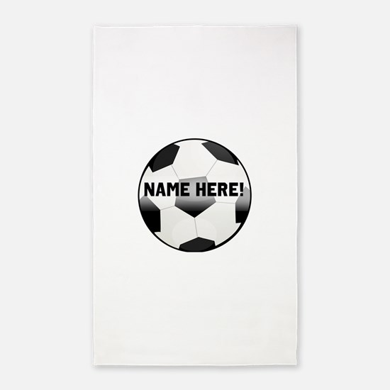 Personalized Name Soccer Ball 3'x5' Area Rug