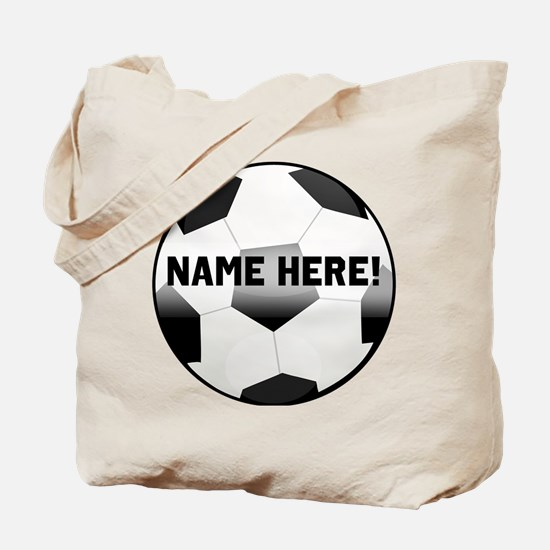 Personalized Name Soccer Ball Tote Bag