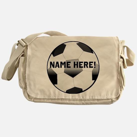 Personalized Name Soccer Ball Messenger Bag
