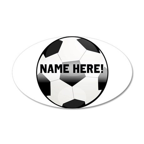 Personalized Name Soccer Ball Wall Decal