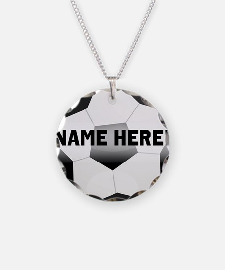 Soccer necklaces soccer dog tags necklace charmspendants personalized name soccer ball necklace mozeypictures Image collections