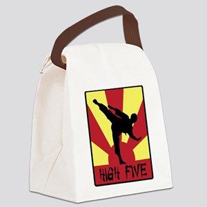 High Five Canvas Lunch Bag