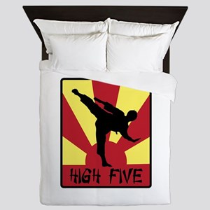 High Five Queen Duvet