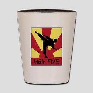 High Five Shot Glass