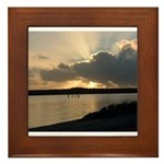 Sunrise in Tasmania Framed Tile
