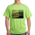 Sunrise in Tasmania Green T-Shirt