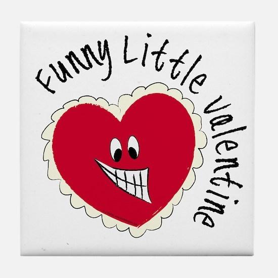 Funny Little Valentine Tile Coaster