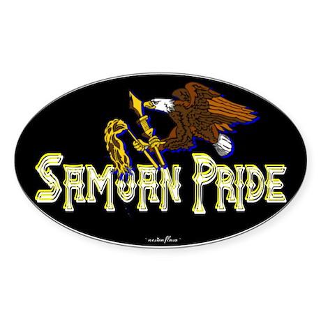 Samoan Pride Oval Sticker