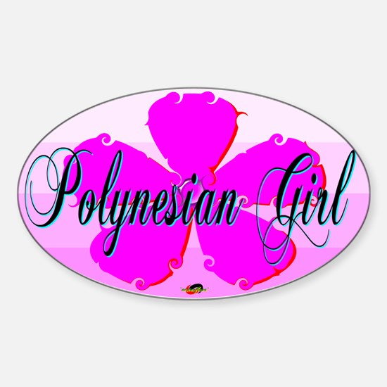 Polynesian Girl Oval Decal