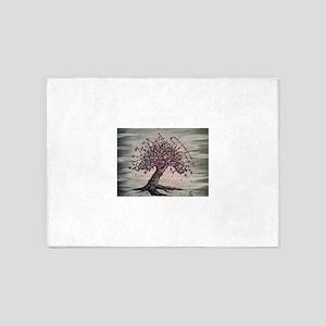 Namaste Love Tree Art 5'x7'Area Rug