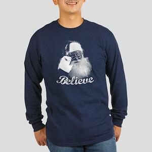 Santa Claus Believe Long Sleeve T-Shirt