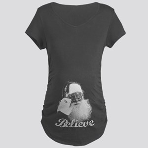 Santa Claus Believe Maternity T-Shirt