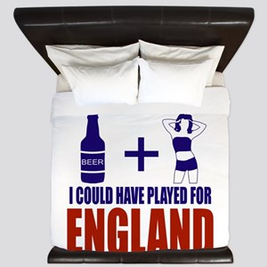 Fun England Football supporter tee King Duvet