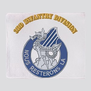 DUI - 3rd Infantry Division with Text Throw Blanke