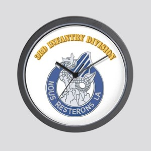 DUI - 3rd Infantry Division with Text Wall Clock