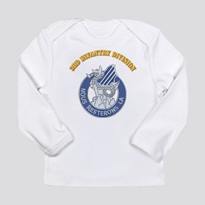 DUI - 3rd Infantry Division with Text Long Sleeve