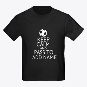 personalized Funny football keep calm soccer T-Shi