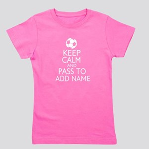 personalized Funny football keep calm soccer Girl'