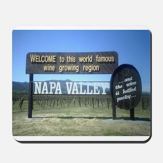 Napa Valley T's Mousepad