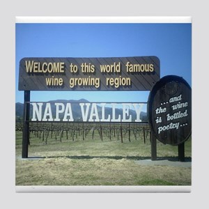 Napa Valley T's Tile Coaster