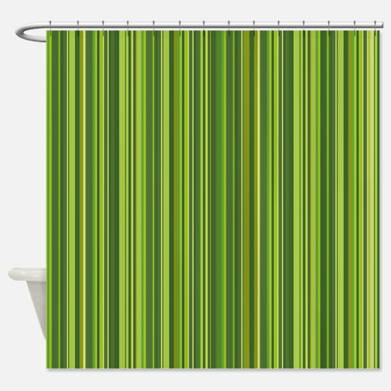 Many colorful stripe pattern in gre Shower Curtain