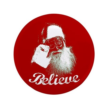 "Santa Claus Believe 3.5"" Button (100 pack)"