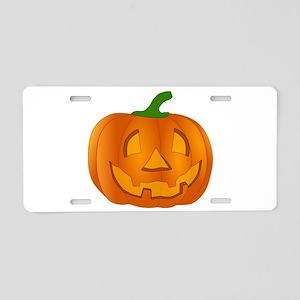Halloween Jack-o-Lantern Pumpkin Aluminum License