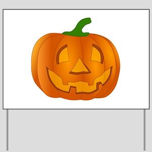 Halloween Jack-o-Lantern Pumpkin Yard Sign