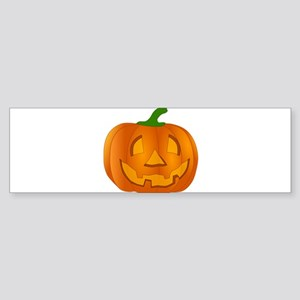 Halloween Jack-o-Lantern Pumpkin Bumper Sticker
