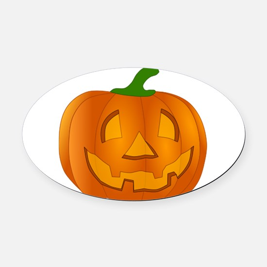 Halloween Jack-o-Lantern Pumpkin Oval Car Magnet