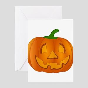 Halloween Jack-o-Lantern Pumpkin Greeting Cards