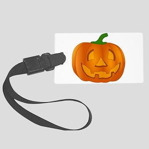 Halloween Jack-o-Lantern Pumpkin Luggage Tag