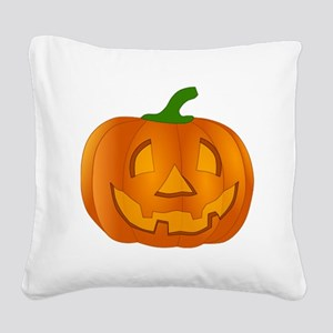 Halloween Jack-o-Lantern Pumpkin Square Canvas Pil