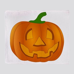 Halloween Jack-o-Lantern Pumpkin Throw Blanket