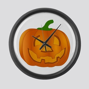 Halloween Jack-o-Lantern Pumpkin Large Wall Clock